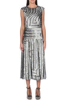 DRIES VAN NOTEN Donavon sequinned silk dress