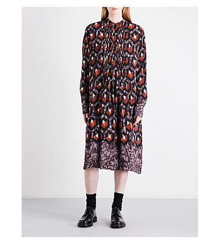 DRIES VAN NOTEN Donegal silk shirt dress (Des+a