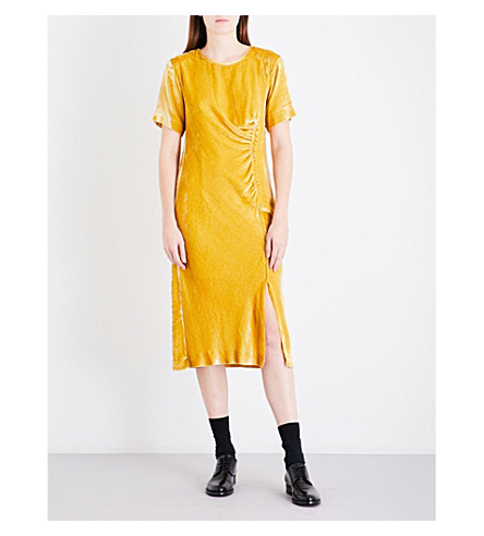 DRIES VAN NOTEN Donen velvet dress (Yellow