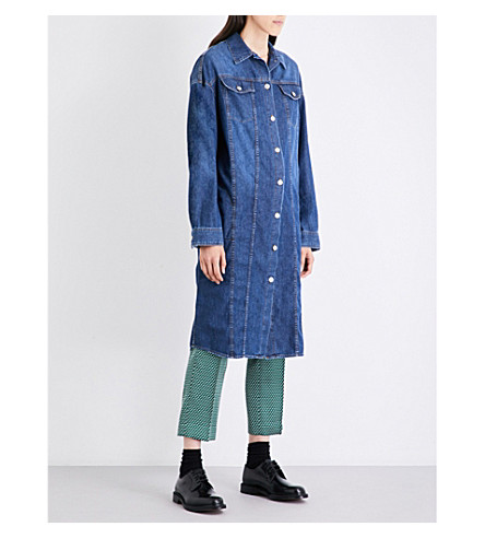 DRIES VAN NOTEN Doralie denim shirt dress (Indigo