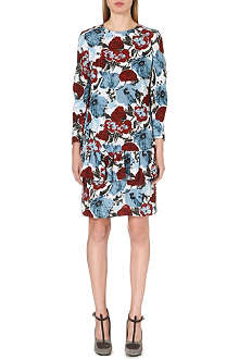 DRIES VAN NOTEN Drake floral-print crepe dress