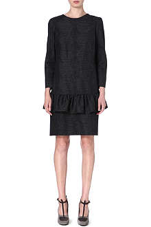 DRIES VAN NOTEN Drake ruffled-waist jacquard dress