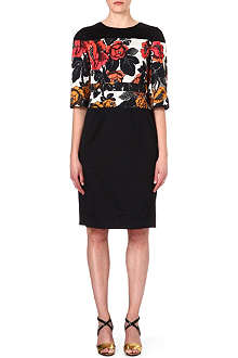 DRIES VAN NOTEN Floral panel dress