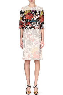 DRIES VAN NOTEN Floral-panel dress