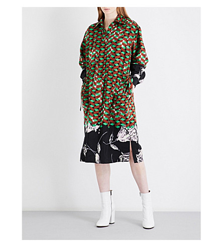 DRIES VAN NOTEN Dualy silk-crepe shirt dress (Des+b