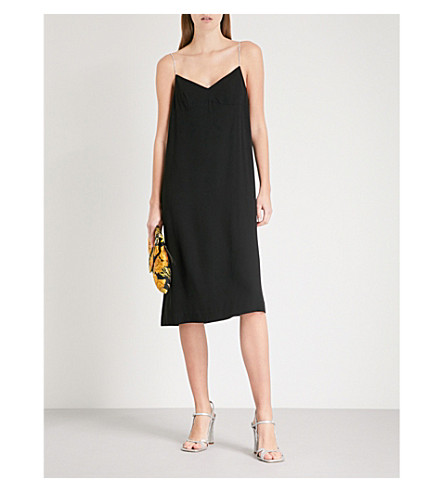DRIES VAN NOTEN Embellished camisole dress (Black