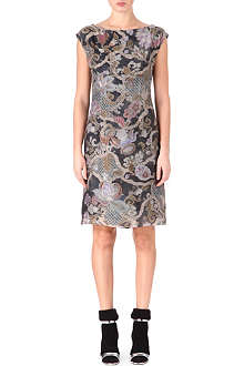 DRIES VAN NOTEN Silk flower-pattern dress