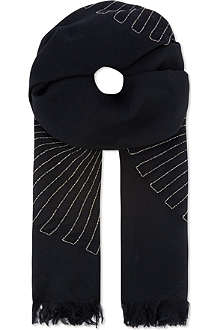 DRIES VAN NOTEN Wool scarf