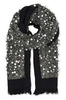 DRIES VAN NOTEN Beaded pearl scarf