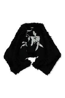 DRIES VAN NOTEN Faux-fur stole