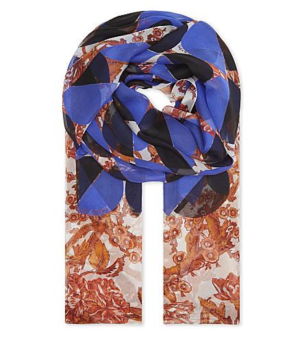 DRIES VAN NOTEN Floral silk scarf (Des+c