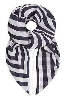 DRIES VAN NOTEN Wave print scarf