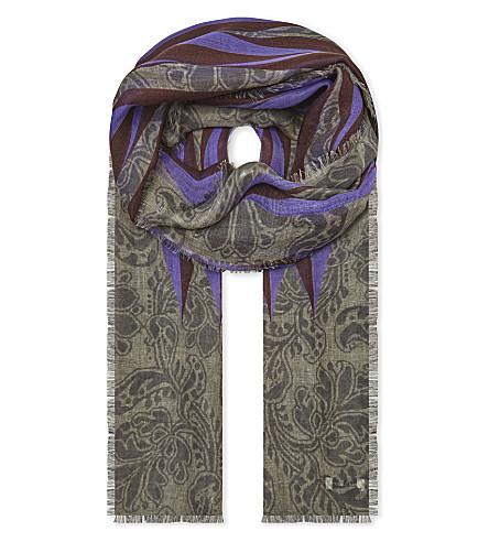 DRIES VAN NOTEN Paisley wave cashmere scarf (Des+c