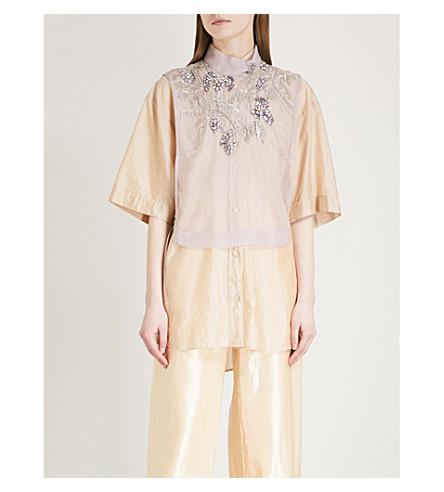 DRIES VAN NOTEN George embroidered silk vest (Lilac