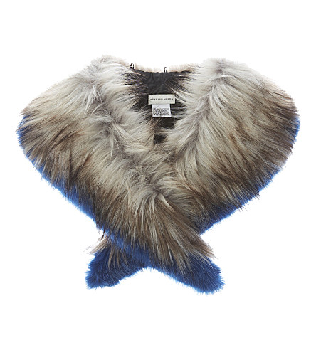 DRIES VAN NOTEN Pointed faux-fur collar (Natural