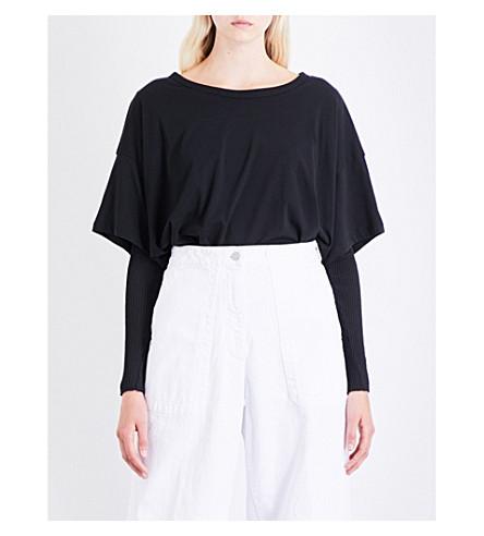 DRIES VAN NOTEN Hallom cotton and cashmere-blend top (Black