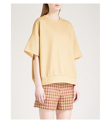 DRIES VAN NOTEN Halovic oversized-fit T-shirt (Ocra