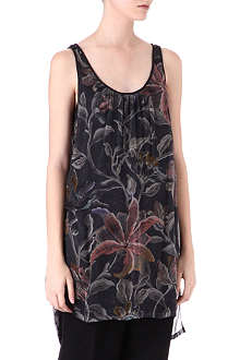 DRIES VAN NOTEN Floral-print silk-chiffon top