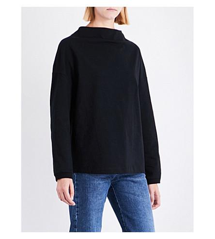 DRIES VAN NOTEN Hamar oversized cotton-jersey top (Black