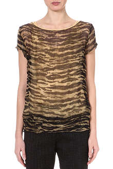 DRIES VAN NOTEN Hamble zebra-print top