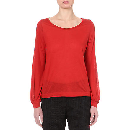 DRIES VAN NOTEN Drop hem jumper (Orange