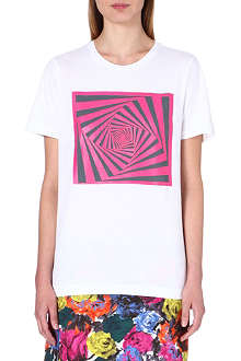 DRIES VAN NOTEN Hamling square-print t-shirt