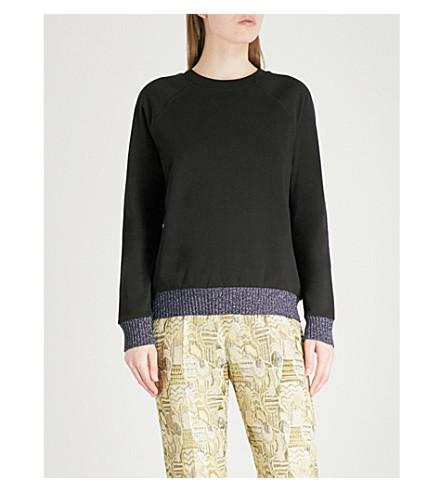 DRIES VAN NOTEN Hanifin cotton-jersey sweatshirt (Black