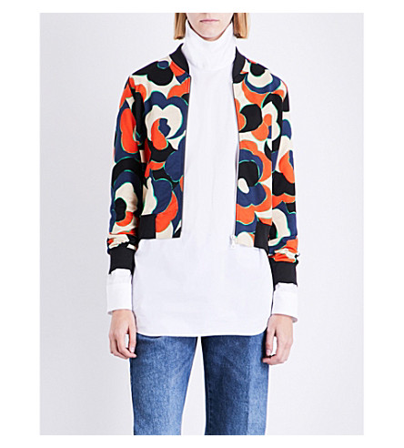 DRIES VAN NOTEN Haralson cotton-jersey bomber jacket (Red