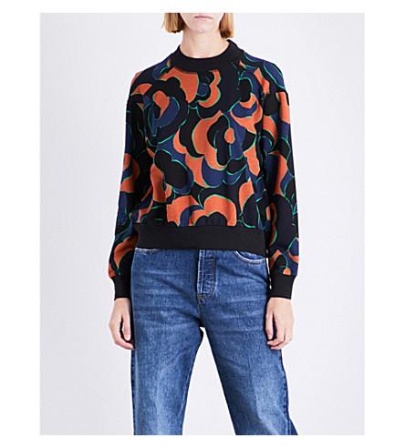 DRIES VAN NOTEN Hardmon cotton-jersey sweatshirt (Rust