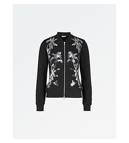 DRIES VAN NOTEN Cotton-jersey bomber jacket (Black