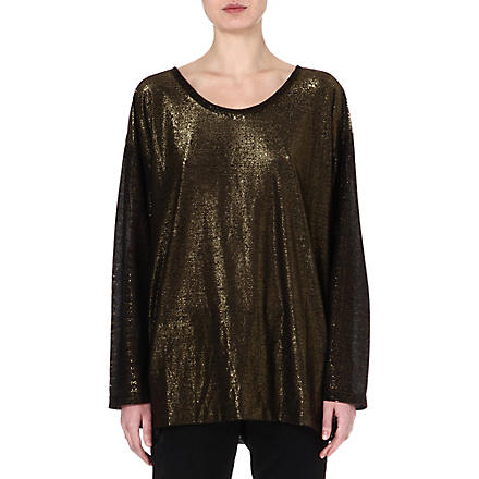 DRIES VAN NOTEN Hawley metallic top (Black