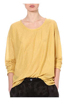 DRIES VAN NOTEN Hawley metallic top