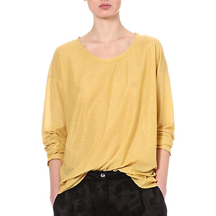 DRIES VAN NOTEN Hawley metallic top (Gold
