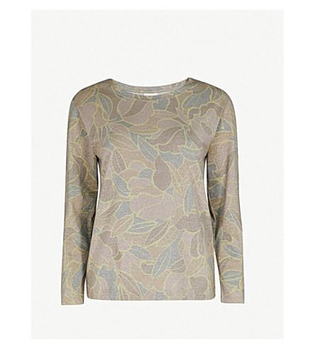 DRIES VAN NOTEN Metallic woven sweatshirt (Hay