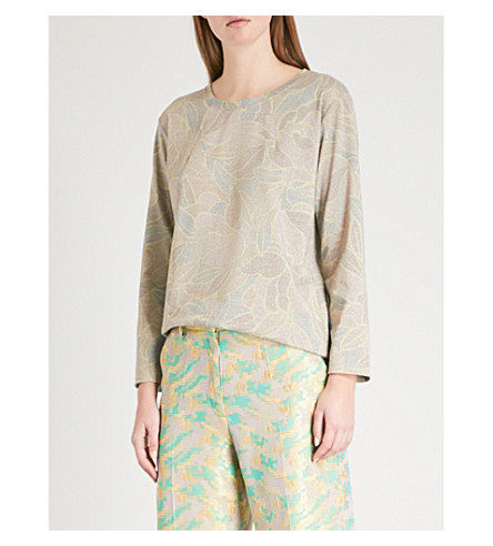 DRIES VAN NOTEN Metallic woven sweatshirt (Hay