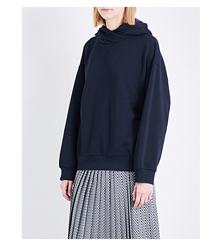DRIES VAN NOTEN Hien cotton-jersey hoody (Navy