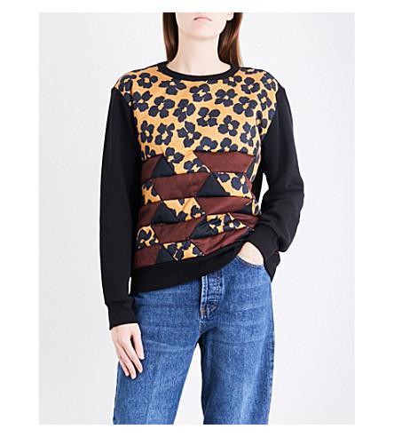 DRIES VAN NOTEN Hilborn cotton-jersey sweatshirt (Black