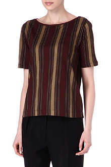 DRIES VAN NOTEN Striped cotton t-shirt