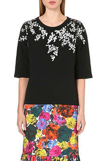 DRIES VAN NOTEN Hipol leaf-motif sweatshirt
