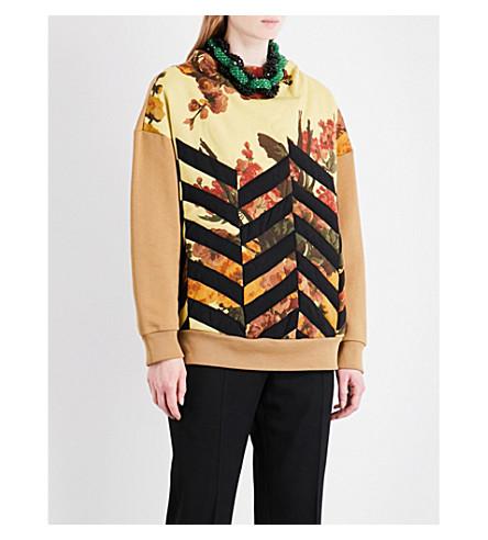 DRIES VAN NOTEN Hivner cotton-blend sweatshirt (Camel