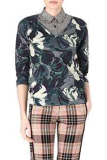 DRIES VAN NOTEN Hoose Flower top