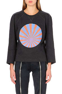 DRIES VAN NOTEN Hydorn-print wool sweatshirt
