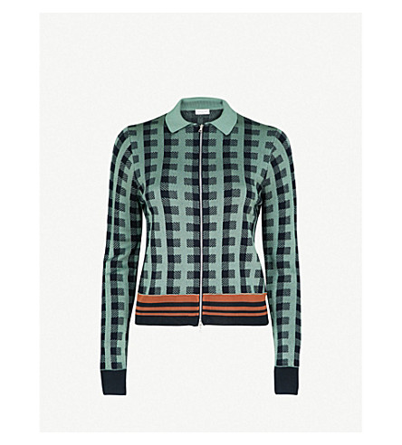 DRIES VAN NOTEN Knitted jacket (L+green