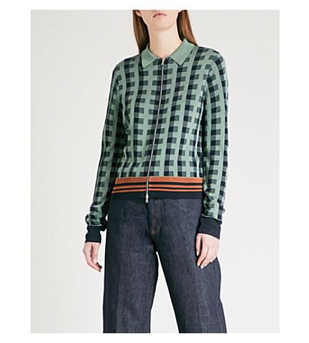 DRIES VAN NOTEN Knitted jacket (L+green