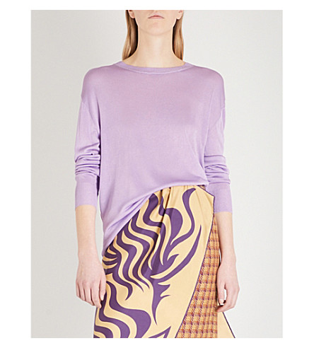DRIES VAN NOTEN Jacobien knitted jumper (Lilac