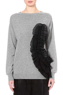 DRIES VAN NOTEN Jamy frilled cashmere-blend jumper