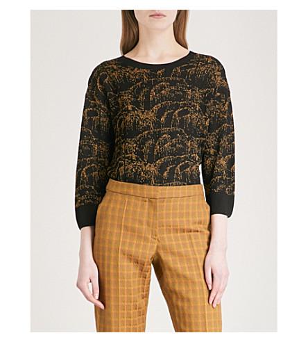 DRIES VAN NOTEN Metallic knitted T-shirt (Black