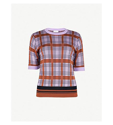 DRIES VAN NOTEN Knitted T-shirt (Lilac