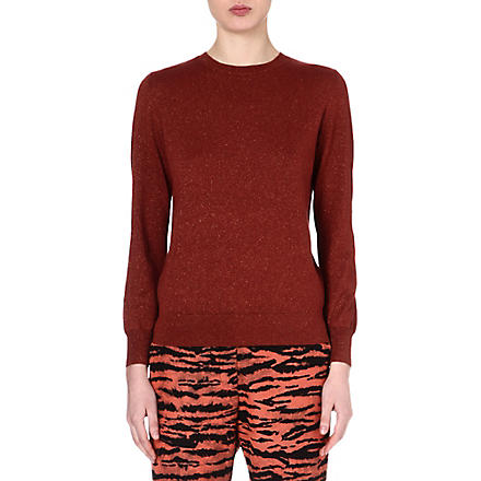 DRIES VAN NOTEN January metallic jumper (Orange