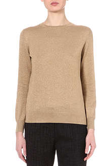 DRIES VAN NOTEN January metallic jumper